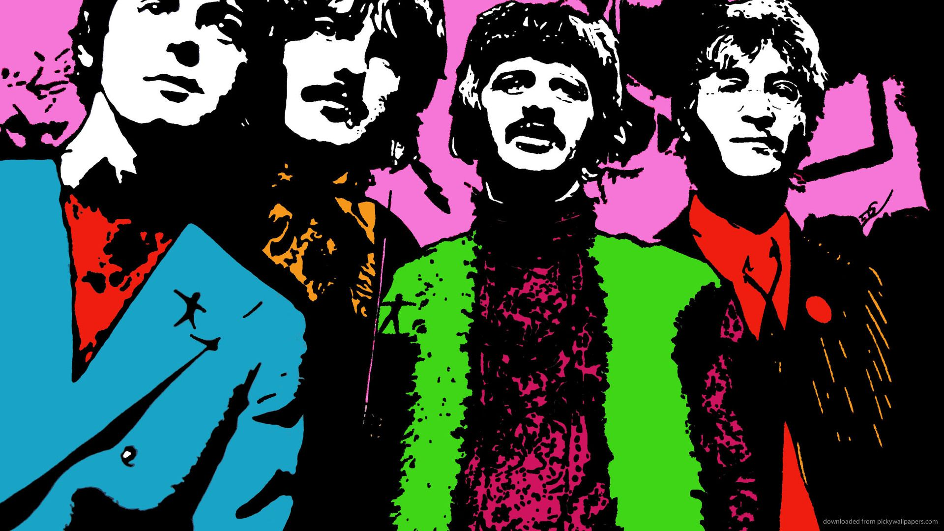 Psychedelic Beatles Wallpaper