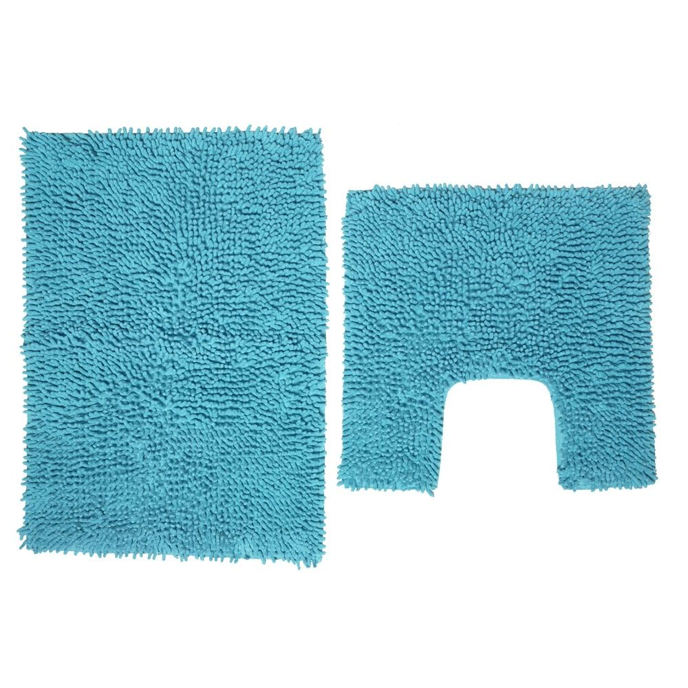 Aqua Bath Mat Set Bathroom Decor Pinterest Bath Mat Aqua - Turquoise bathroom mats for bathroom decorating ideas