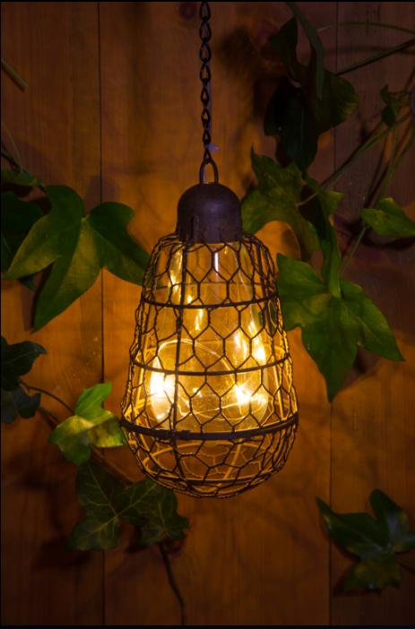 NOMA Garden Art | Rustic Hanging Lantern | Noma.co.uk