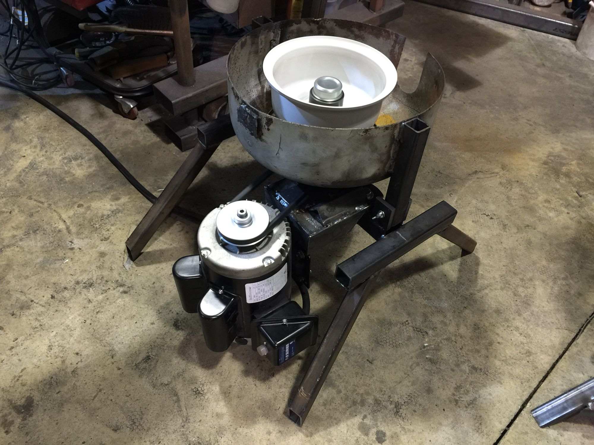 Homemade Waste Oil Centrifuge Test Spun Up Checking