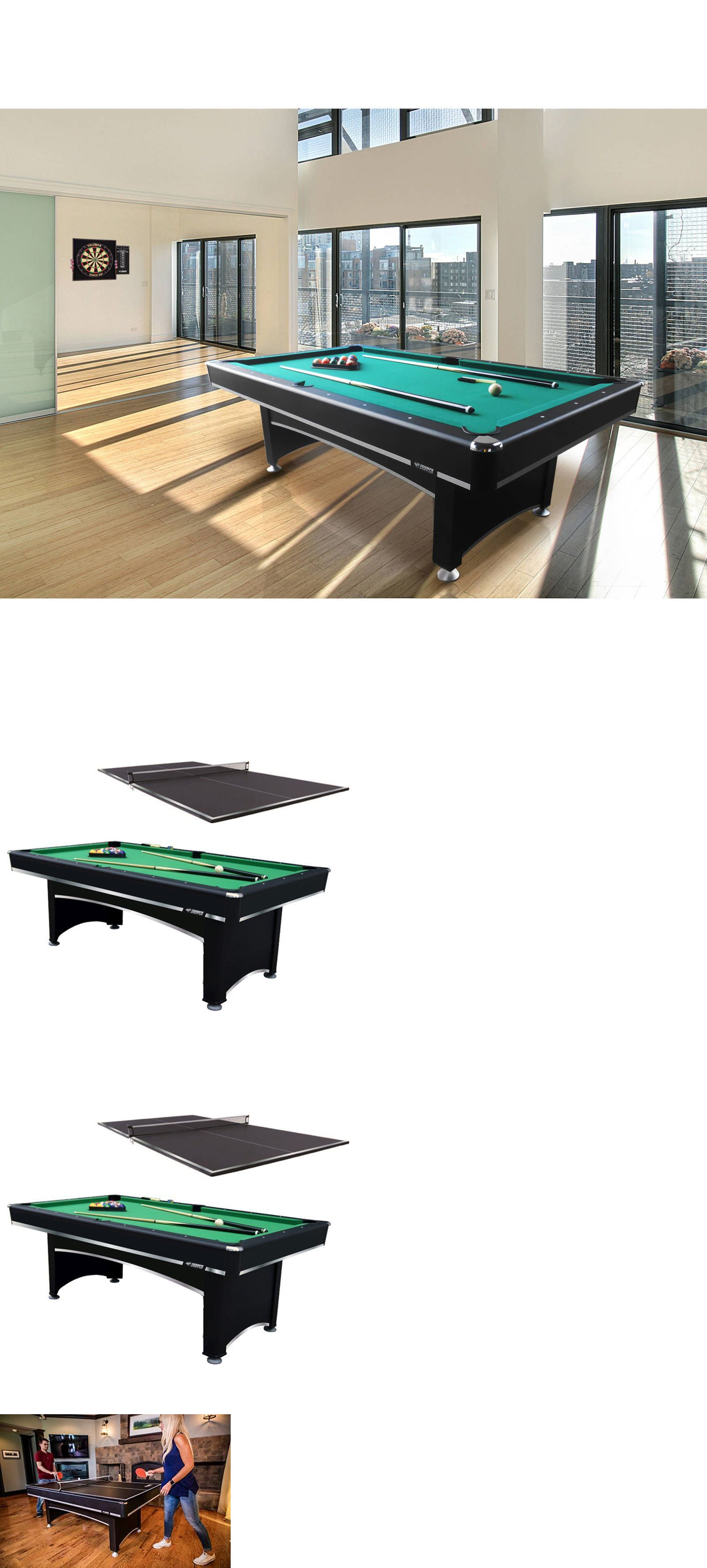 Tables 21213: 2 In 1 Billiard Pool Table With Ping Pong Table Tennis Top  Room
