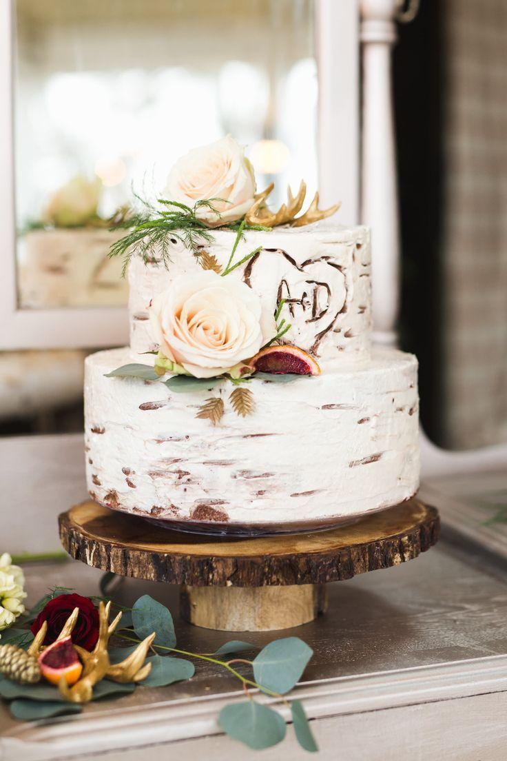 Rustic Romantic Inspiration   Rustic wedding cakes, Wedding cake and ...