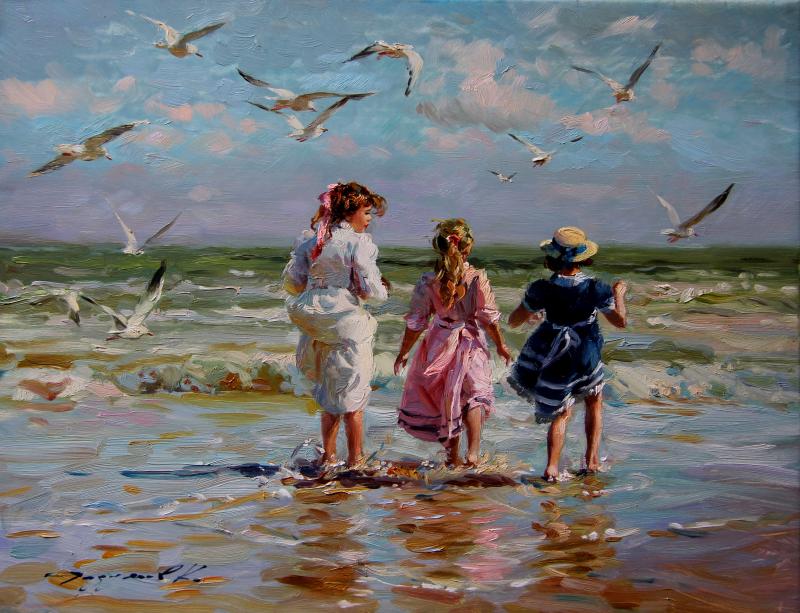 Cote de RAZOUMOV Constantin | Pousse Cornet - Valoir | Paysage de mer peinture, Belles peintures ...