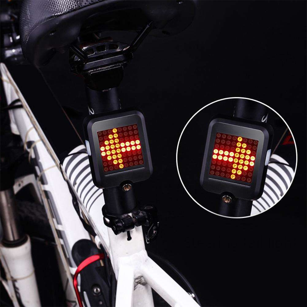 Bicycle Rear Light For Bike Automatic Brake Induction Taillight MTB USB LED Lamp