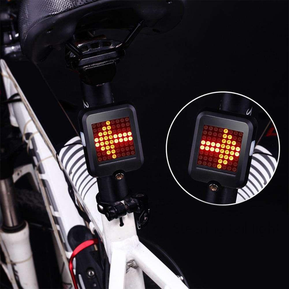 64led Bicycle Automatic Direction Indicator Taillight Safety Warning Light Bike Safety Bicycle Bike Tail Light
