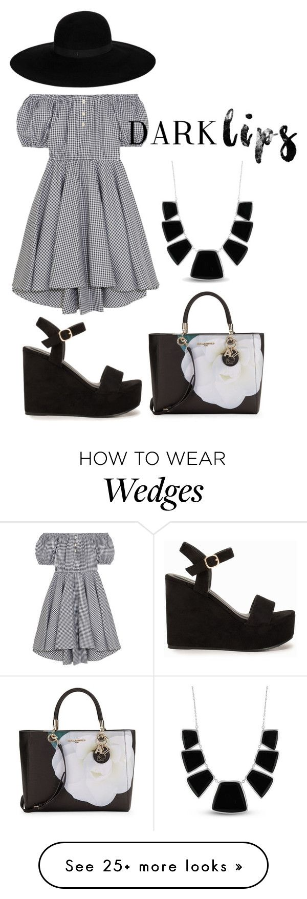 """fgfhfc by nana"" by zozanazozane on Polyvore featuring Caroline Constas, Nly Shoes, Karl Lagerfeld, Maison Michel and Karen Kane"
