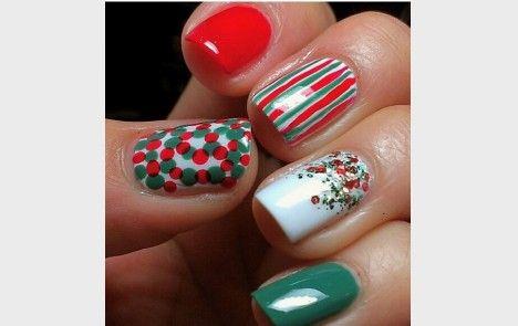Cómo pintarte las uñas en Navidad