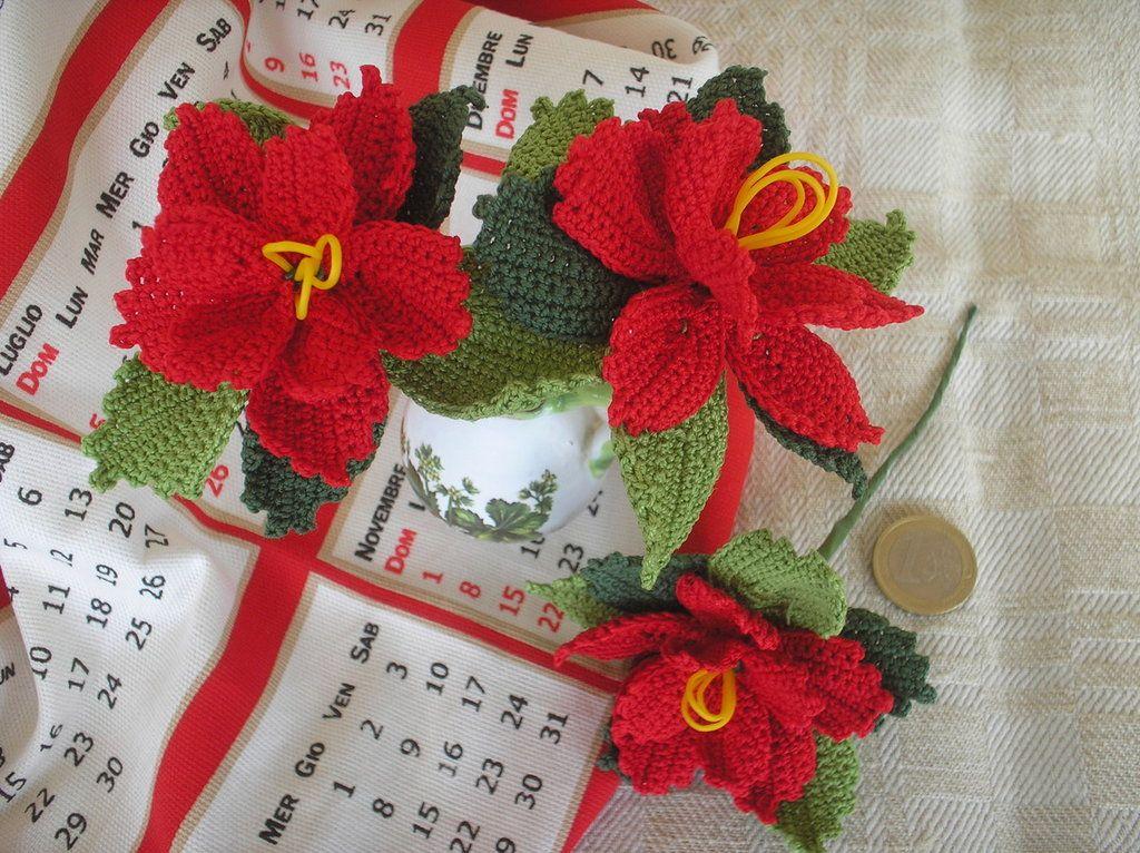 Stella Di Natale Uncinetto Schema.Stella Di Natale Ad Uncinetto In Cotone Scarpette Napkins