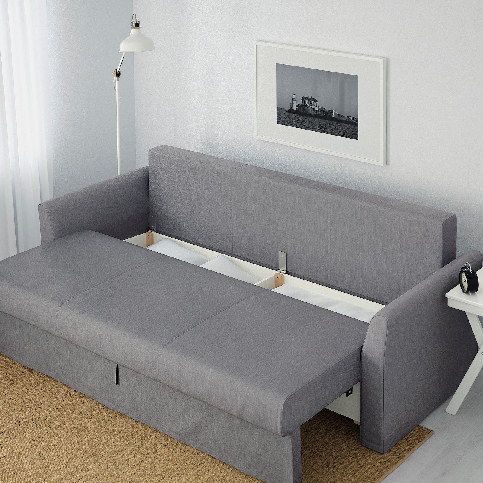 HOLMSUND Sleeper sofa, Nordvalla medium gray IKEA in