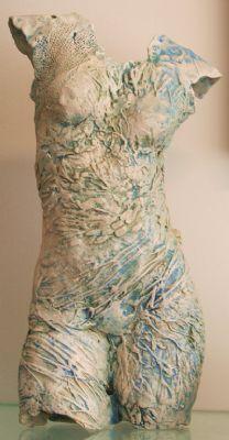 Sirona - Ceramic Torso Sculpture by Pauline Lee: