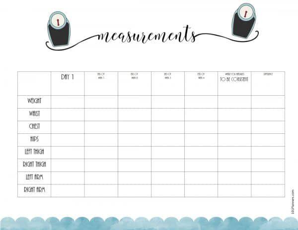 Free Fitness Planner Printable Book Bullet Journals Pinterest