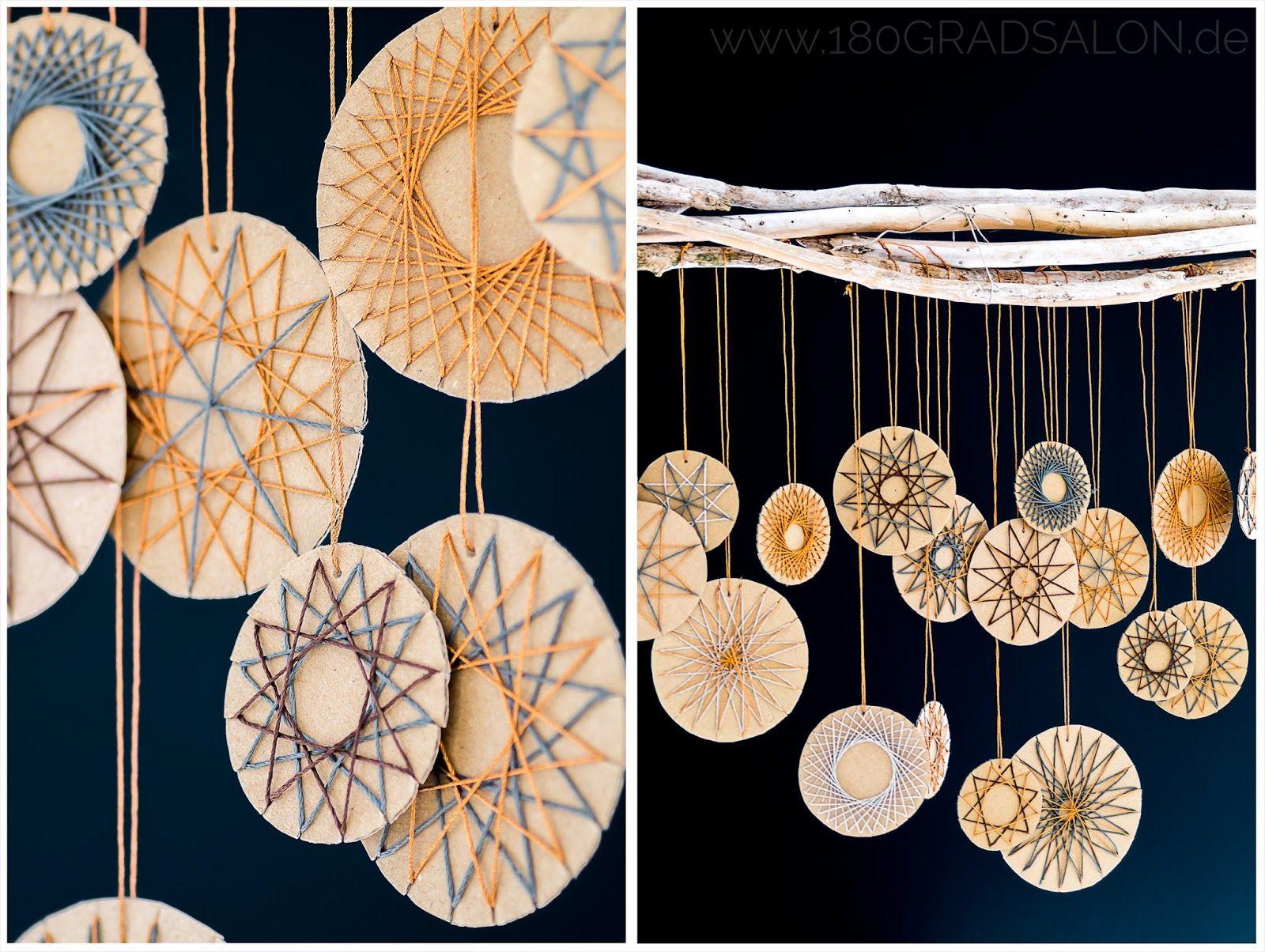 fadengrafik sterne basteln mit b ckergarn diy adventsdeko. Black Bedroom Furniture Sets. Home Design Ideas
