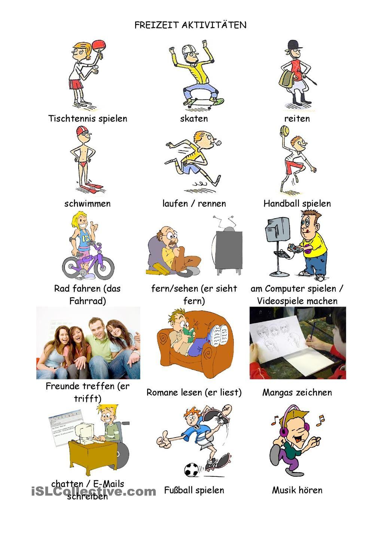 Freizeit | Freizeit, Deutsch und Deutsch lernen