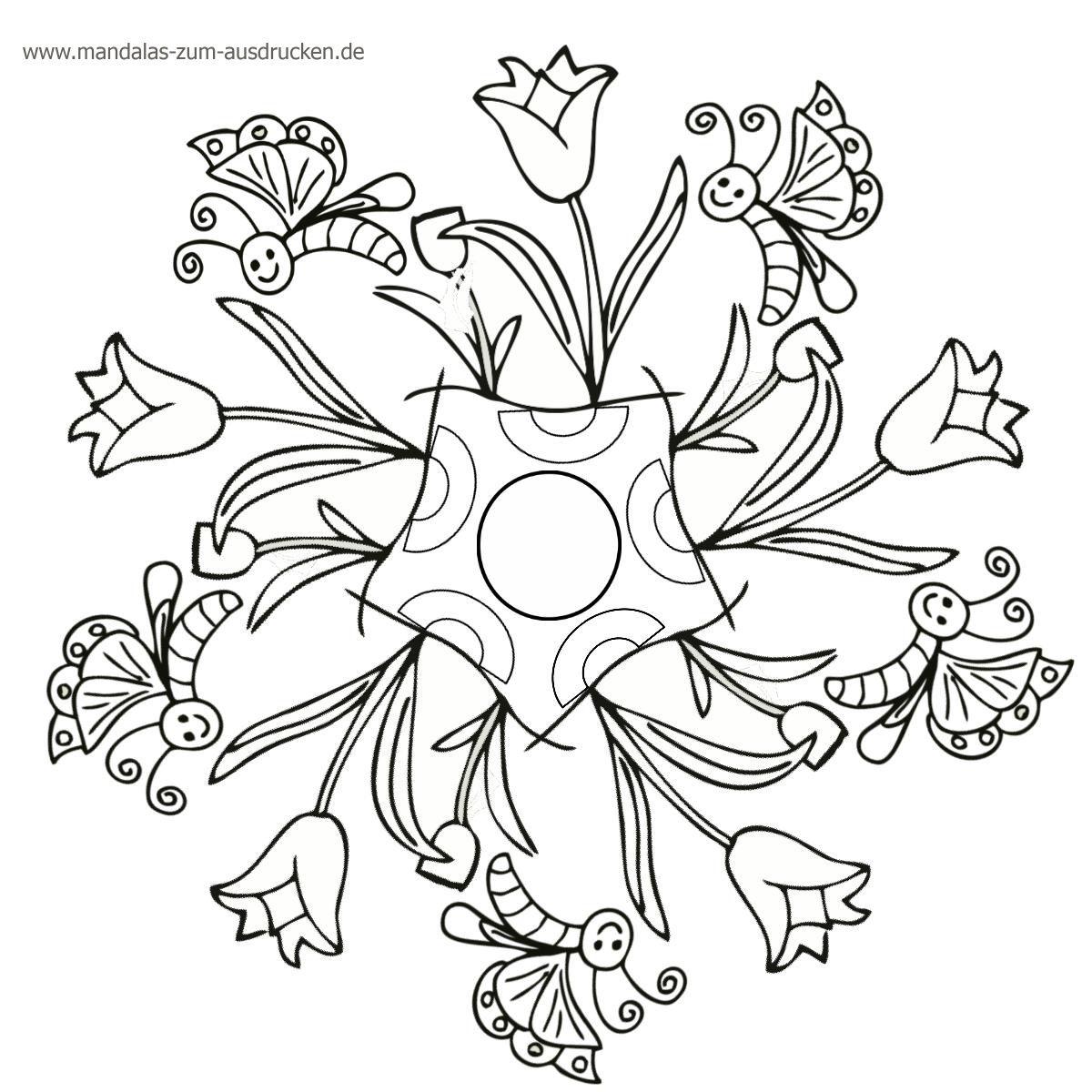 ausmalbilder mandala schmetterling 09 | Basteln | Pinterest ...