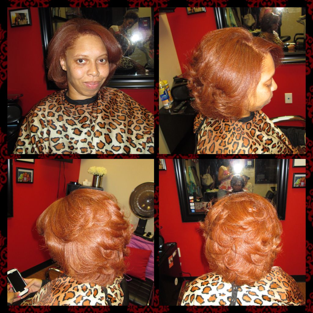 african american natural red head
