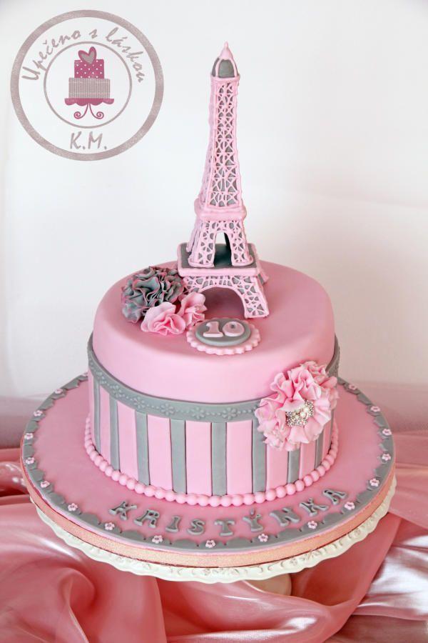Paris Themed Tea Party Birthday Cake To A Tea Have