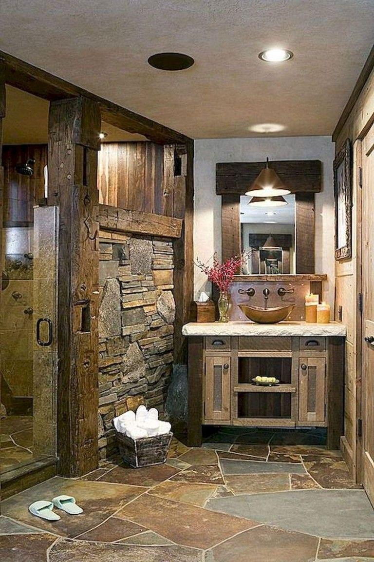85 astonishing farmhouse bathroom remodel decor ideas