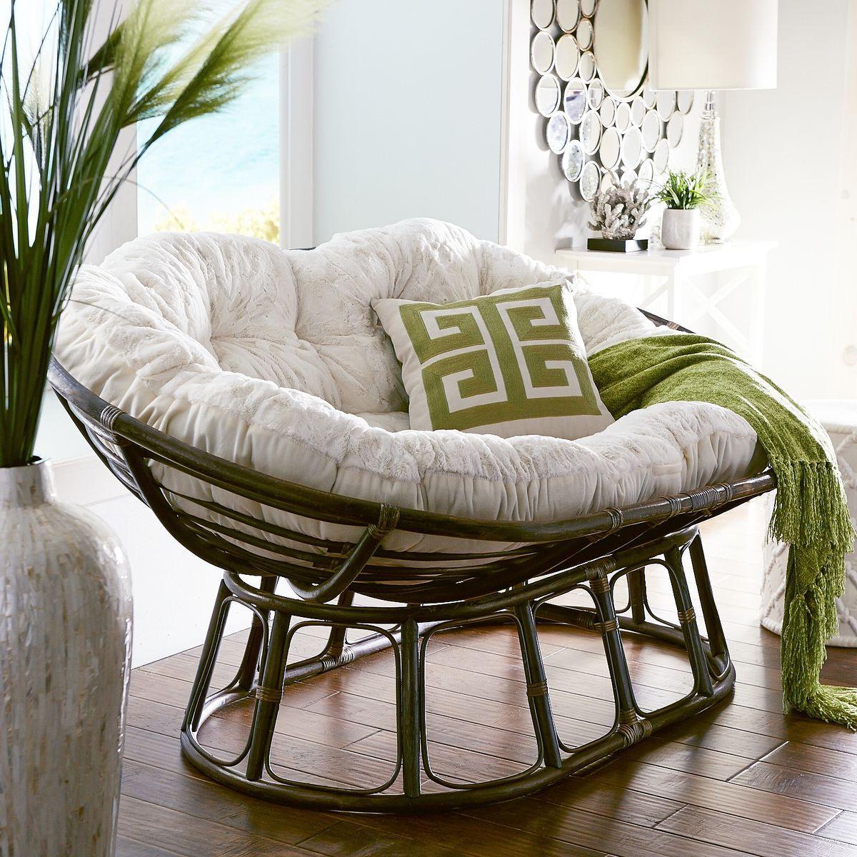Papasan Double Taupe Chair Frame In 2019 Papasan Chair