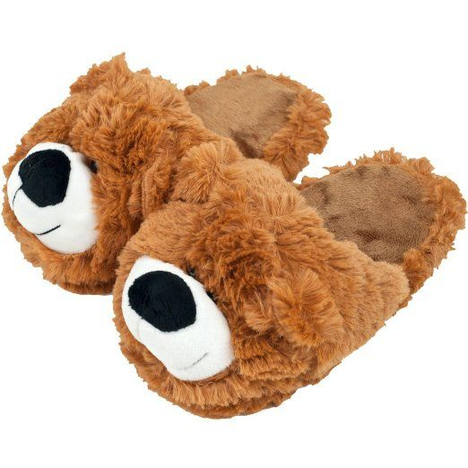 Bear slippers, Cuddly teddy bear