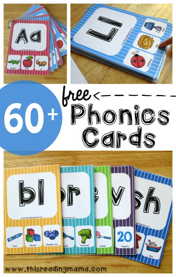 MEGA Pack of FREE Phonics Cards Phonics cards, Phonics