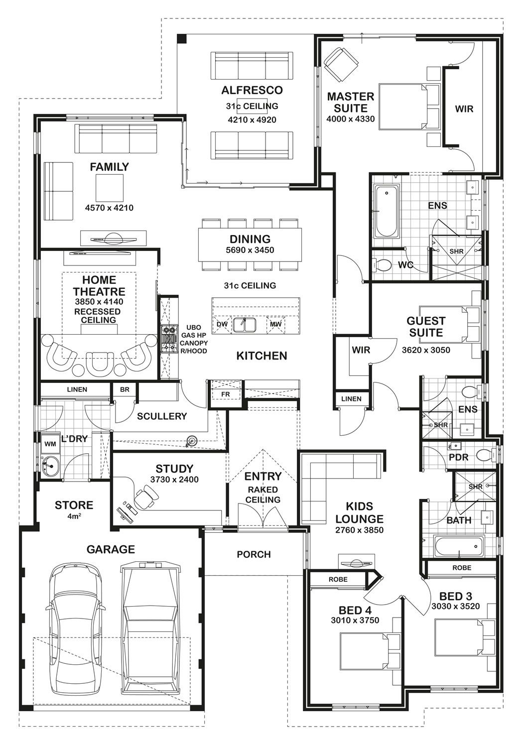 Floor plan friday storage laundry scullery archtecture for Who draws house plans near me