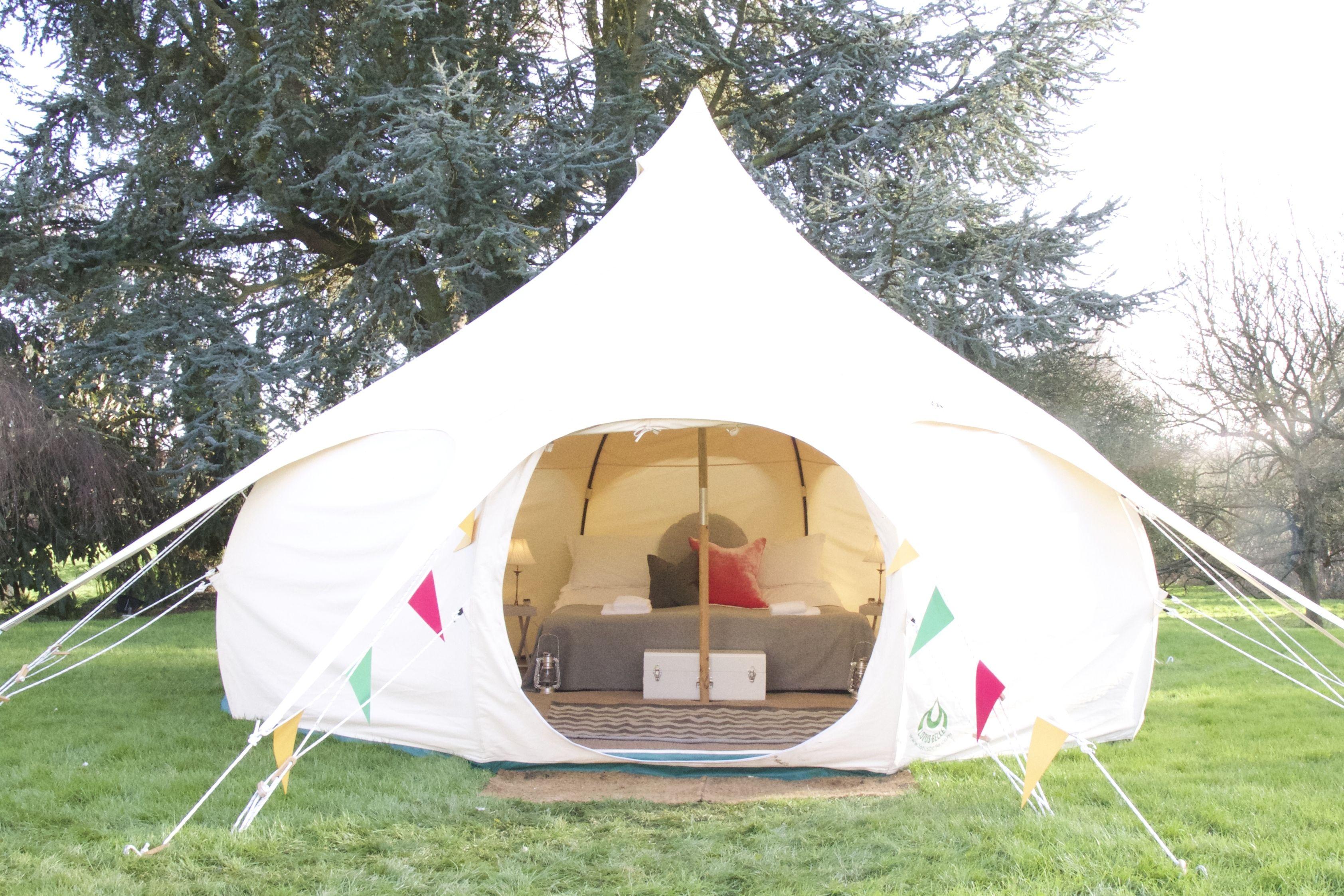 VIP luxury 5 meter Lotus Belle Tent complete with memory foam mattress. & VIP luxury 5 meter Lotus Belle Tent complete with memory foam ...