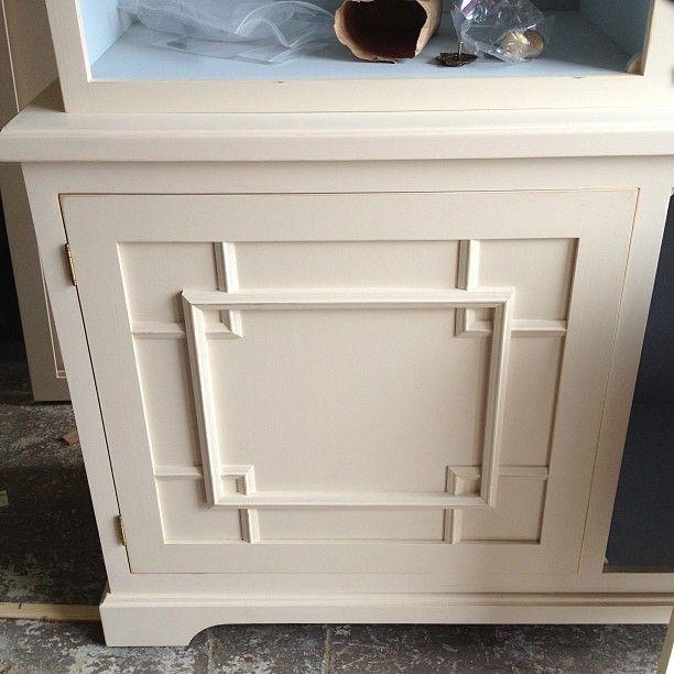 Custom Fretwork Cabinet Detail. Photo By Amymeierdesign.