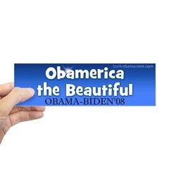 America the beautiful bumper sticker