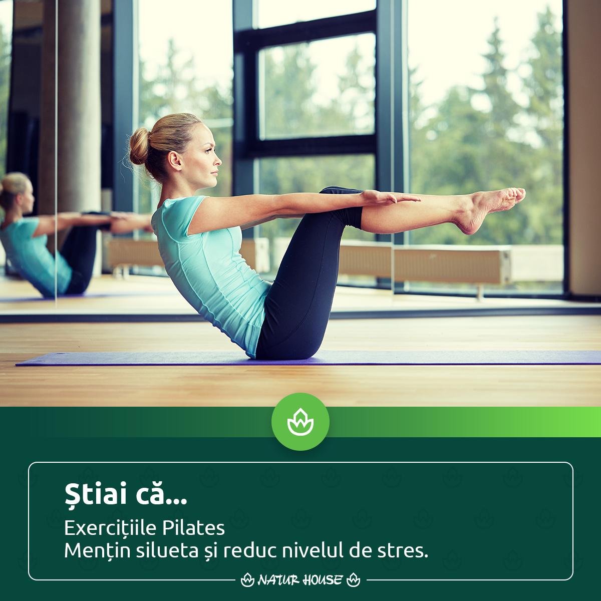 în formă cu Pilates! Exercițiile Pilates au
