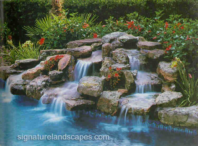 Swimming Pools With Waterfalls Waterfalls Swimming Pool Waterfall Pool Waterfall Swimming Pool Landscaping