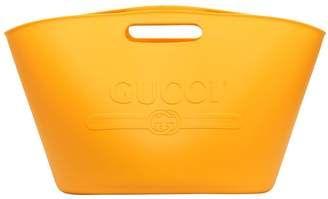 143ef8955f43 Gucci Logo Embossed Rubber Tote Bag | Bags for Men | Bags, Tote Bag ...