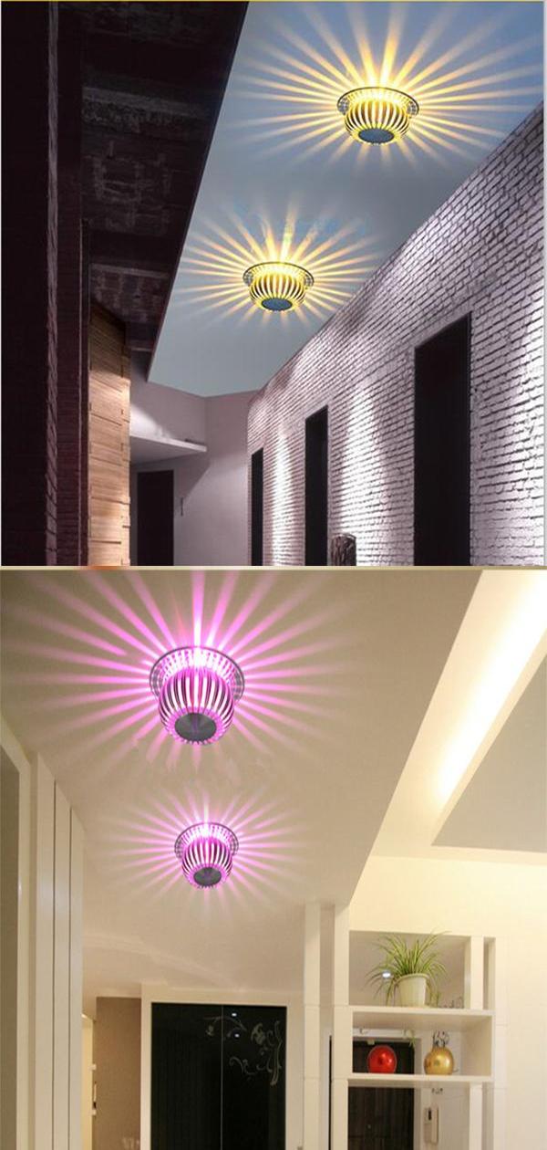 3w Rgb Led Ceiling Light Embedded Ceiling Lamp Scattering Light Design Aluminum For Living Room Foyer Porch Home Lighting Decor In 2020 Ceiling Lights Led Ceiling Lights Ceiling Lights Diy #no #ceiling #lights #in #living #room