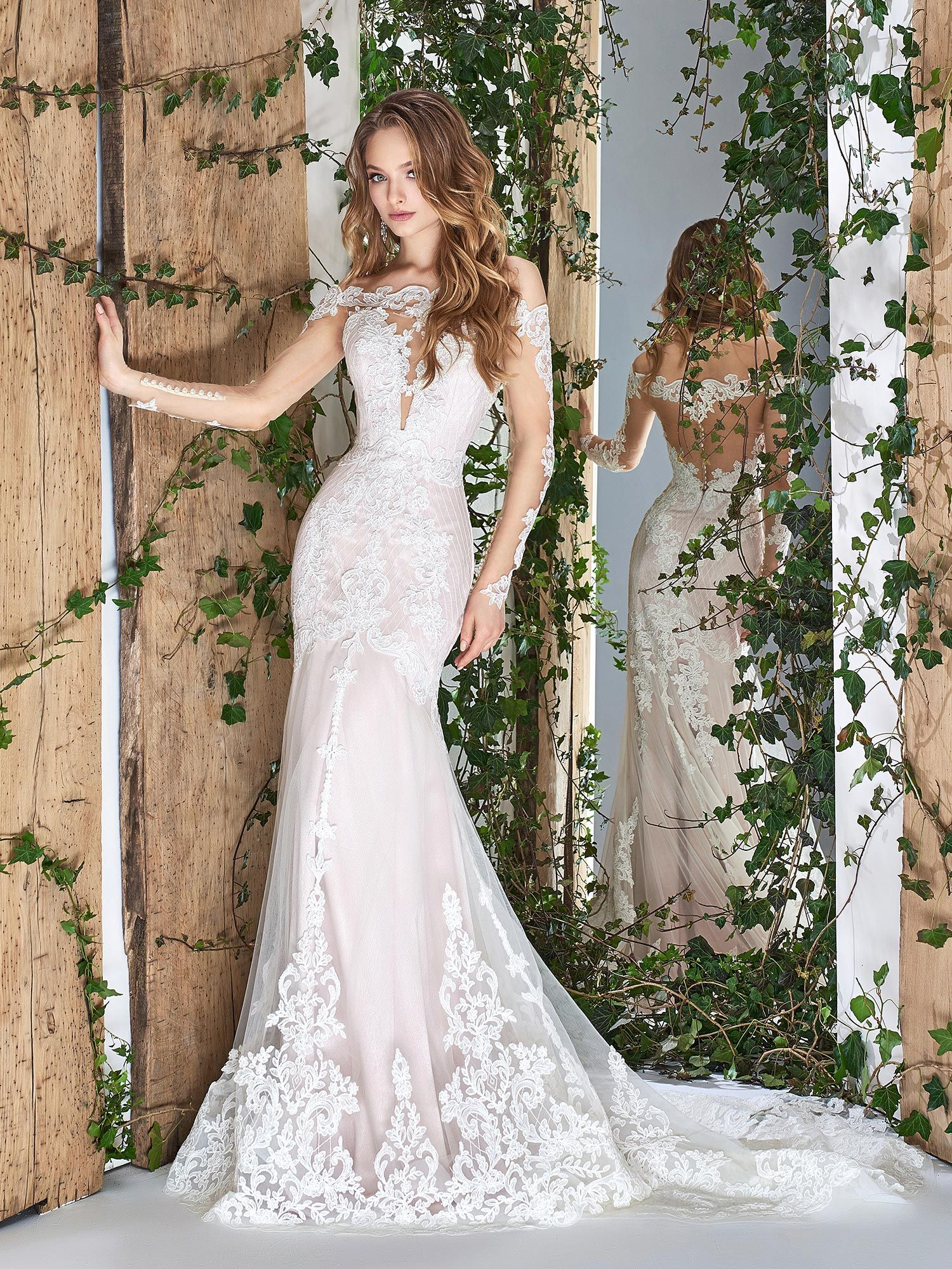 27++ Plunging neckline wedding dress with sleeves ideas