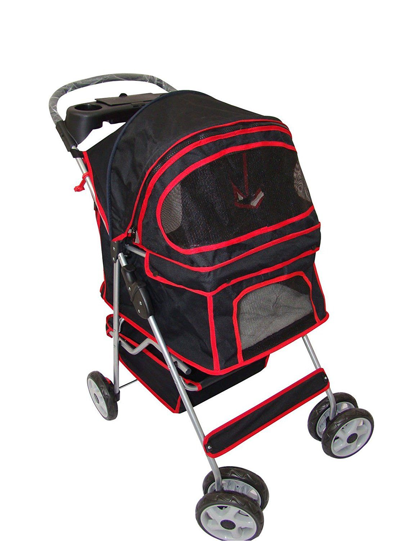 Classic Black 4 Wheel Pet Stroller Trust me, this is
