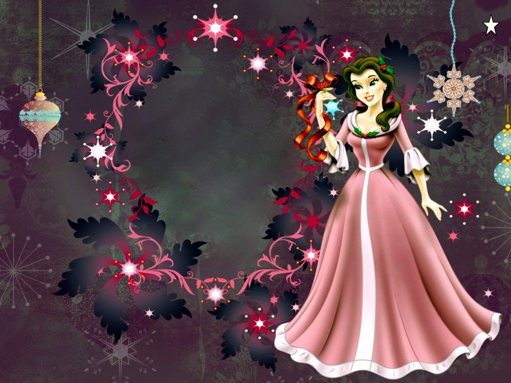 Disney Princess Christmas Images Priness HD Wallpaper And Background Photos