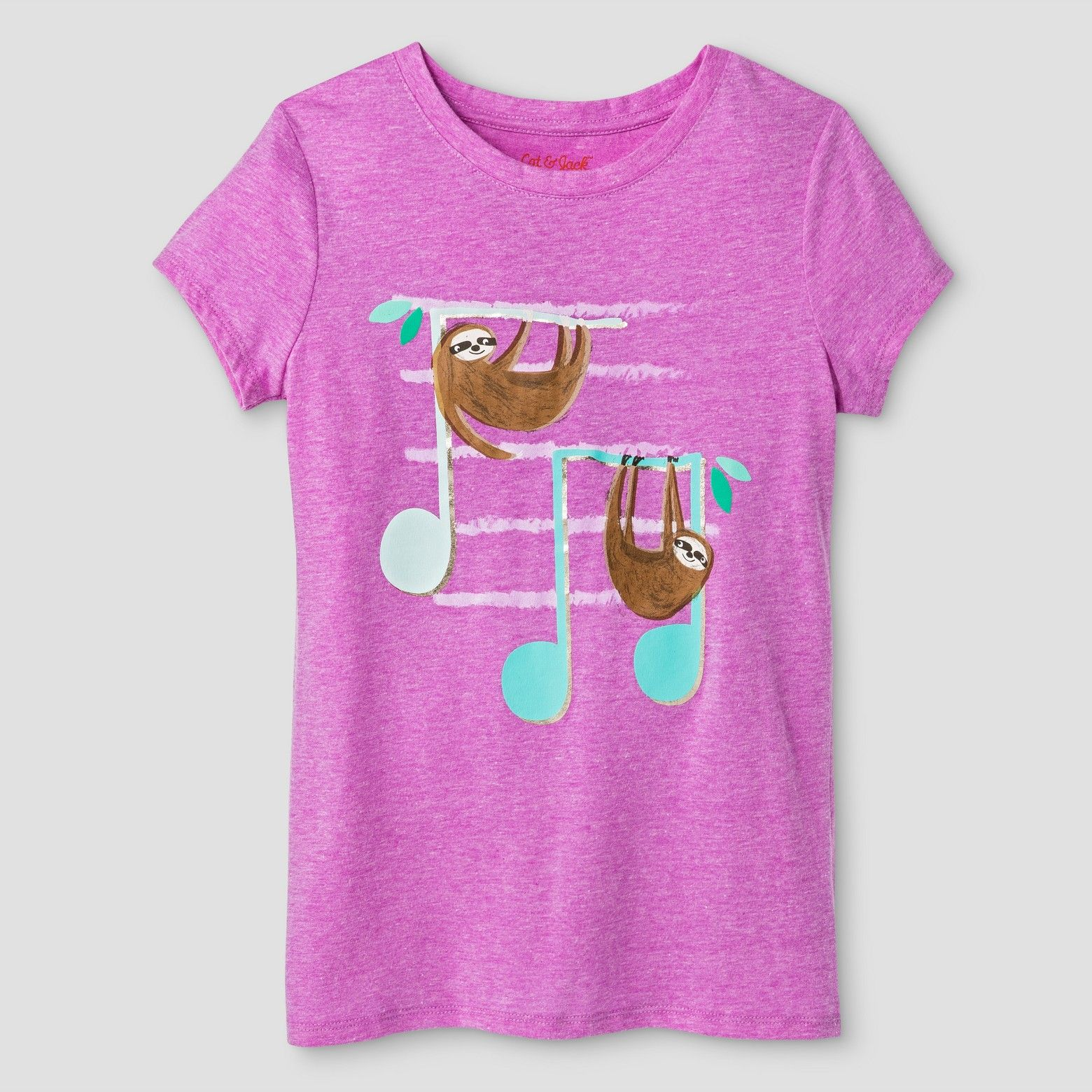 This Girls Sloth Short Sleeve Graphic Tee from Cat & Jack in