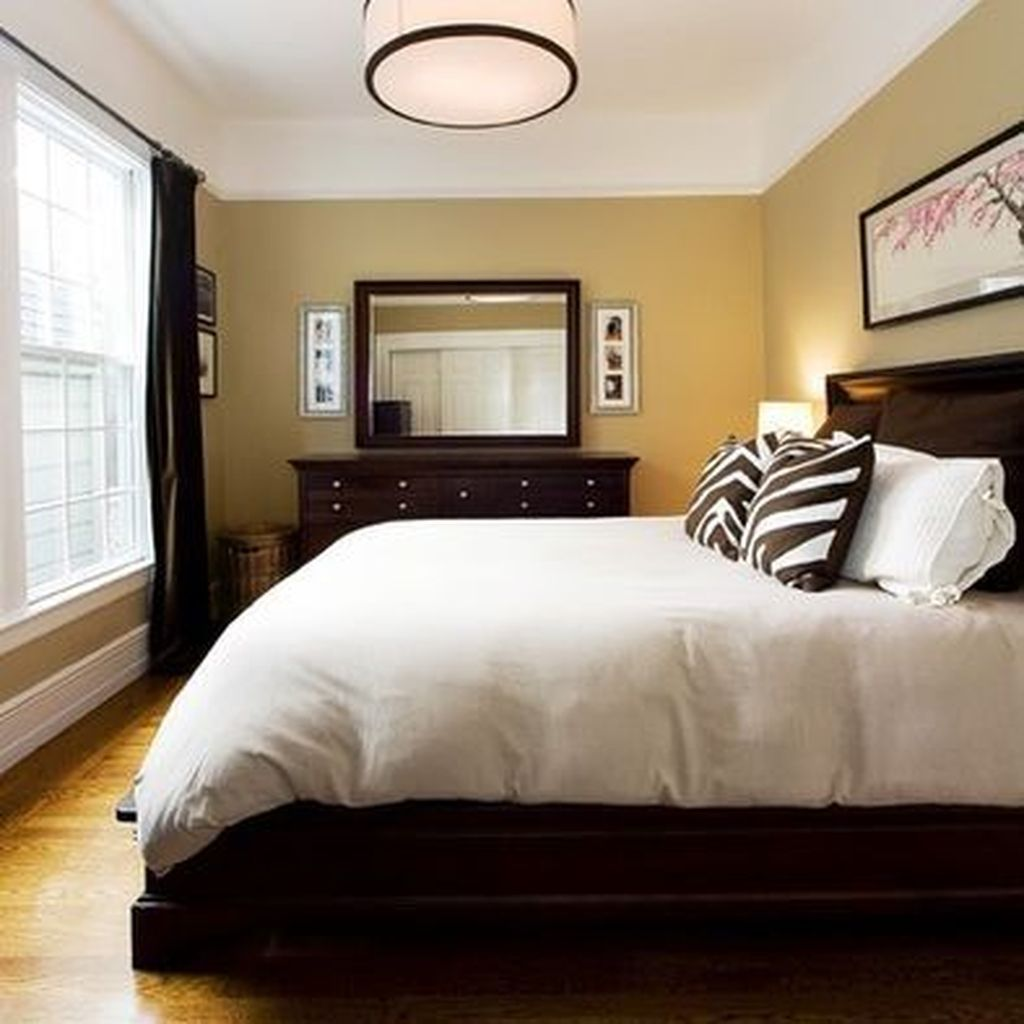 41 Cool Bedroom Decorating Ideas With Dark Wood Furniture Brown Furniture Bedroom Bedroom Furniture Layout Contemporary Bedroom Decor