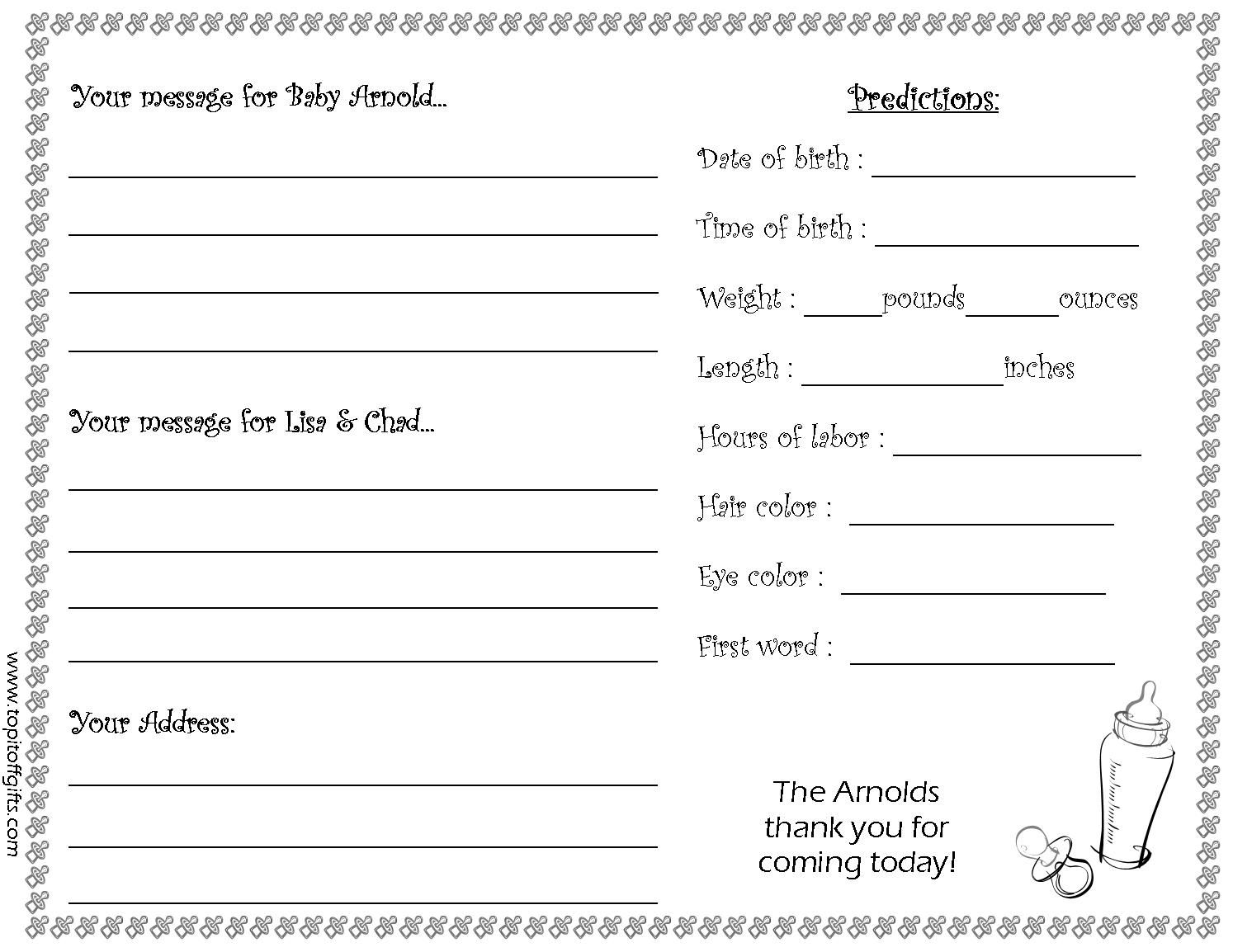 Personalized Gifts Baby Shower Guest Book Custom Baby Shower Personalised Gifts Unique Printable baby shower guest list