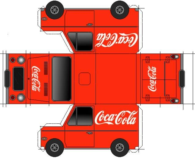 Coca Cola Van Paper Model By Papermau Download Now A