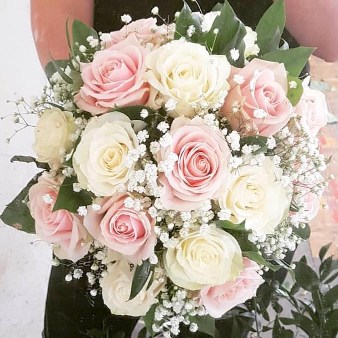 Bridal bouquet for Rheanna @westheathweddings congratulations Rheanna & Wayne #bridalbouquet #sweetavalanche #gypsophila #blush #wedding… #weddingflorists #rosebridalbouquet