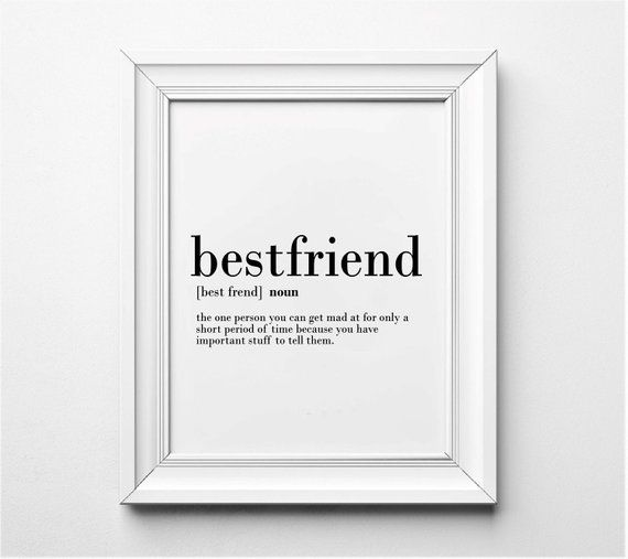 Best Friends Definition, Funny Gift Idea for Best Friends, Funny Art Print, Word Art, Funny Friendsh