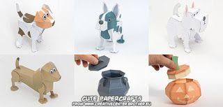 Ninjatoes' papercraft weblog: Cute papercraft dogs & Halloween papercrafts