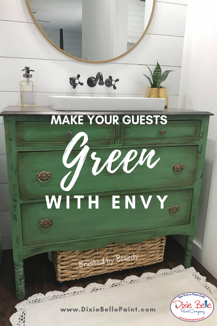 Make Your Bathroom The Envy Of Your Friends With Any Of Our Beautiful Green Dixie Bel Painting Furniture Diy Painted Furniture For Sale Green Painted Furniture