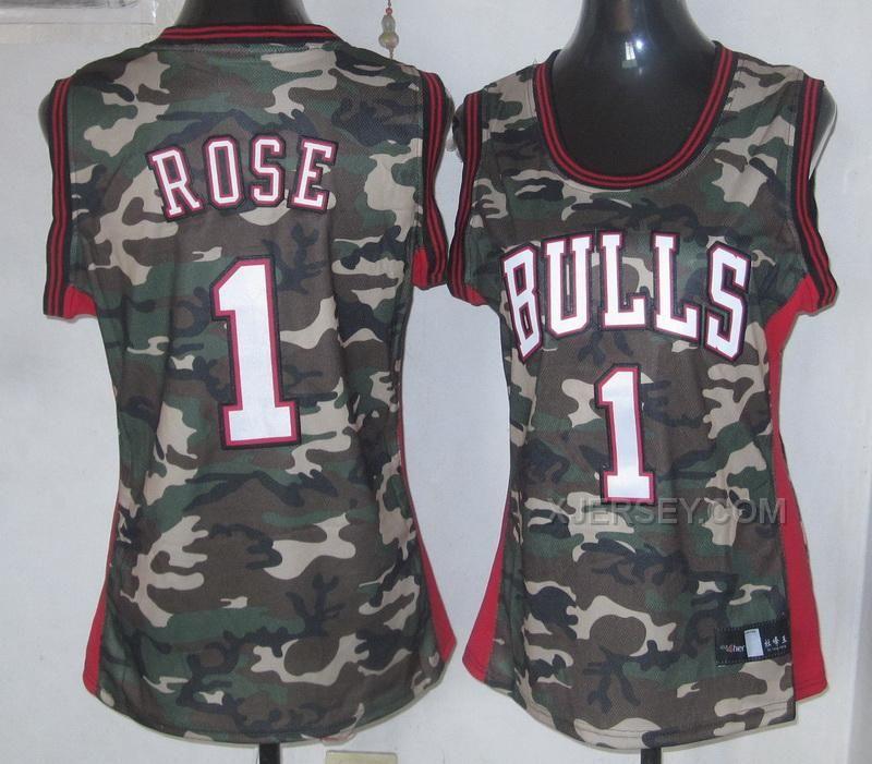 http://www.xjersey.com/bulls-1-rose-camo-women-jersey.html Only$34.00 #BULLS 1 ROSE CAMO WOMEN JERSEY Free Shipping!