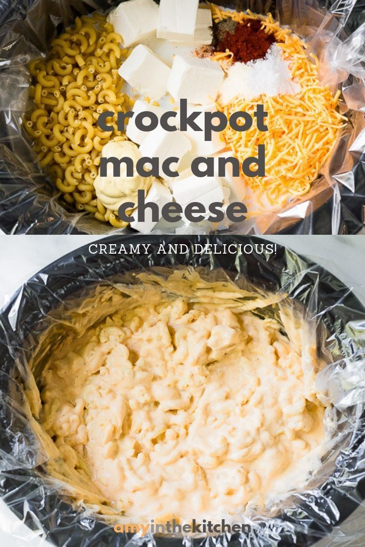 Crock Pot Mac and Cheese - Extra Creamy! | Amy in the Kitchen
