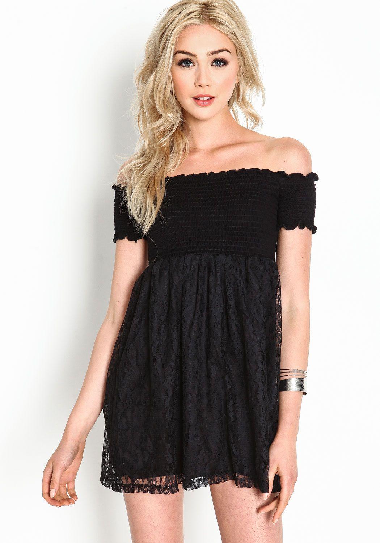Off the Shoulder Babydoll Dresses