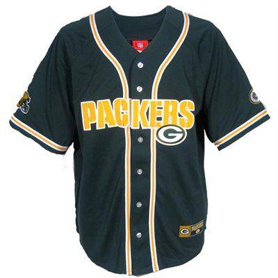 Green Bay Packers Green Pass Rush Baseball Jersey Green Bay Packers Packers Packers Gear