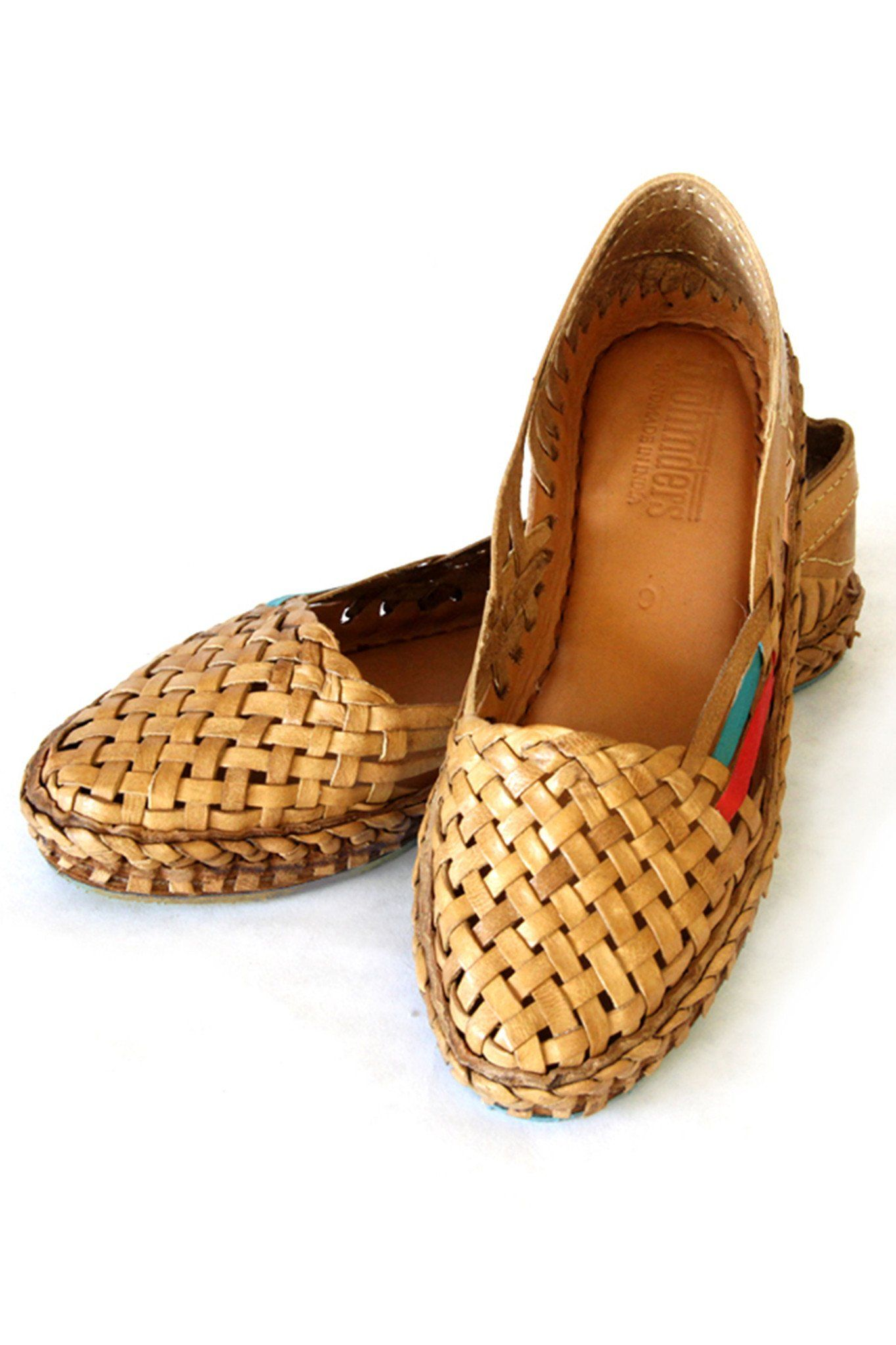 b6f3634f2c56 Mohinders Woven Leather Flats