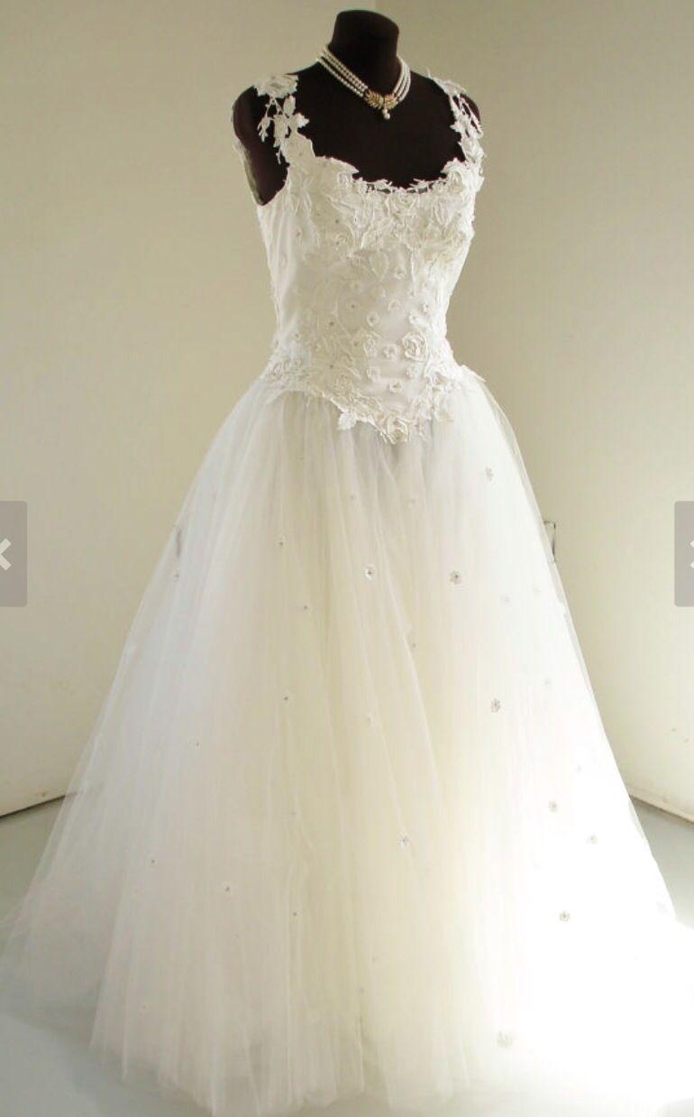 Priscilla of boston wedding dress  Vintage Priscilla of Boston Wedding Dress with Tulle Ballgown Skirt
