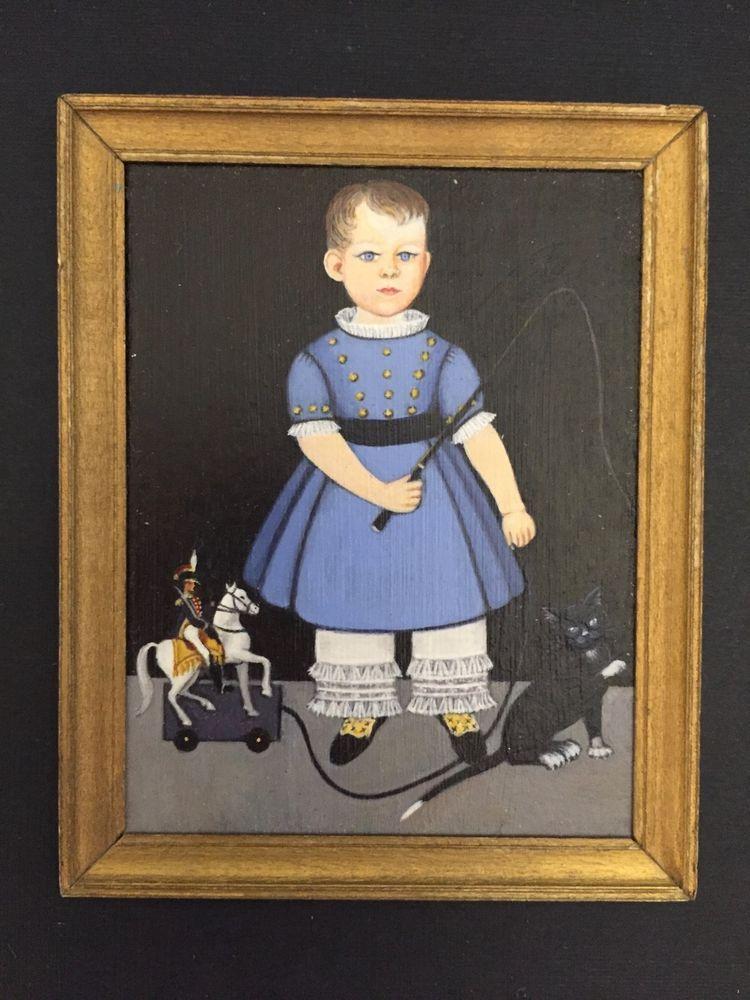 Patty Ray Guckes - folk art painting, 1988